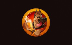 Picture Minimalism, Dog, Germany, Glass, Style, Flag, Beer, Shepherd, Dog, Glass, Germany, Style, Flag, Minimalism, Drink, …