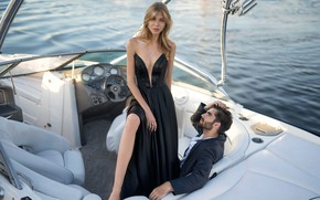 Picture style, boat, pair, fashion