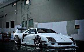 Picture Auto, White, Machine, Ferrari, Rendering, Ferrari F40, Ferrari F-40, F-40, by Aikem Gill, Aikem Gill, …