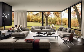Picture interior, living room, Testata-Ray, Villa, design