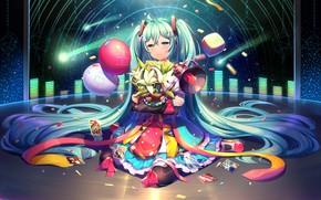 Picture Girl, Girl, Anime, Vocaloid, Hatsune Miku