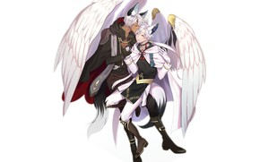 Picture wings, angel, fantasy, creatures, guys, two, by hangahan23, mika and ezekiel