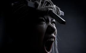 Picture girl, Creek, emotion, exorcism