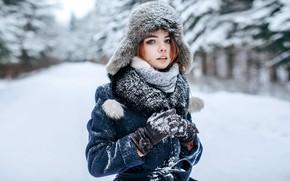 Picture snow, hat, sponge, Natasha, Andrey Metelkov