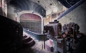 Picture theatre, hall, equipment