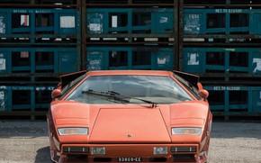 Picture Orange, Before, Supercar, Lamborghini Countach, 1974