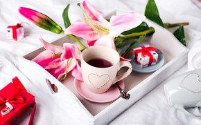 Picture gift, coffee, Lily, Cup