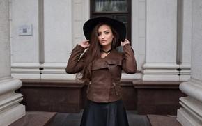 Picture the building, Girl, hat, Look, Veronica, Dmitry Sn, Dmitry Shulgin