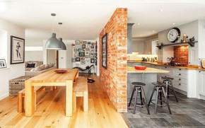 Picture design, interior, kitchen, dining room