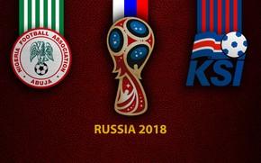 Picture wallpaper, sport, logo, football, FIFA World Cup, Russia 2018, Nigeria vs Iceland