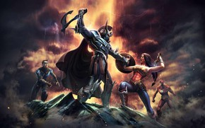 Picture game, god of war, Ares, DC comics, Nightwing, NetherRealm Studios, Wonder woman, the Flash, Injustice …