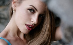 Picture girl, photo, photographer, blue eyes, model, bokeh, brunette, portrait, closeup, mouth, open mouth, lipstick, looking …