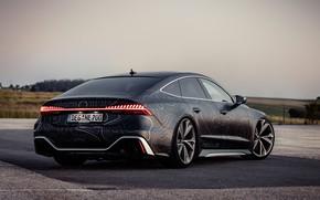Picture Audi, black, lights, RS 7, 2020, V8 Biturbo, RS7 Sportback, 4.0 L., 962 л.с., HGP …