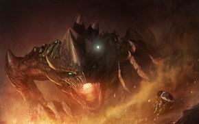 Picture dragon, elf, The Legend of Zelda