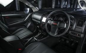 Picture black, interior, pickup, Isuzu, D-Max, 2019, X-Rider Black