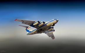 Picture The sky, The plane, Flight, Russia, The Il-76, Ilyushin, Il-76TD, Candid, Volga-Dnepr, Alexander Iartsev, by ...