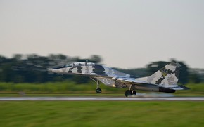 Picture Fighter, Ukraine, Landing, The MiG-29, WFP, Chassis, Ukrainian air force
