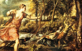 Picture picture, Titian, mythology, Tiziano Vecellio, The Death Of Actaeon