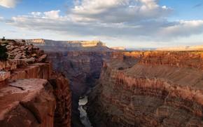 Picture AZ, USA, The Grand Canyon, the Colorado river, Toroweap Overlook