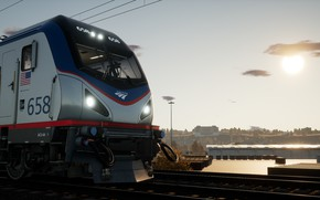 Picture Road, Locomotive, Train, Station, Railroad, USA, Train, Railway, Railroad, Siemens, Electric, Train Sim World 2020, …