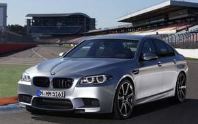 Picture grey, BMW, sedan, tribune, F10, 2013, M5, M5 Competition