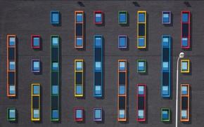 Picture wall, Windows, brick