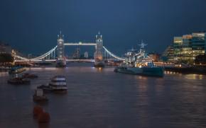 Picture Tower Bridge, London, Blue Hour