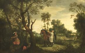 Picture oil, picture, Sebastian Vranx, 1647, Sebastiaan Vrancx, Грабитель наказан