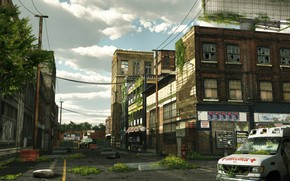Picture the city, building, street, desolation, The last of us