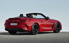 Picture red, BMW, Roadster, rear view, BMW Z4, First Edition, M40i, Z4, 2019, G29