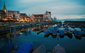 Picture lake, boats, Germany, pier, Friedrichshafen, Lake Constance