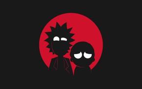 Picture Minimalism, Silhouette, Smith, Cartoon, Sanchez, Rick, Rick and Morty, Rick and Morty, Morty, Rick Sanchez, …