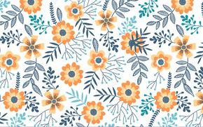 Picture background, texture, flowers