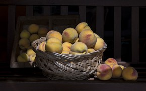 Picture food, fruit, peaches