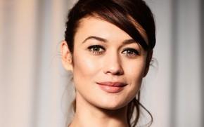 Picture look, face, pose, model, portrait, makeup, actress, brunette, hairstyle, Olga Kurylenko, Olga Kurylenko, hair