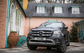 Picture Mercedes-Benz, pickup, 2017, the house, X-Class, dark gray, UK-version