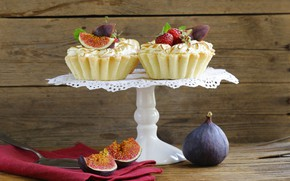 Picture strawberry, dessert, cakes, sweet, figs