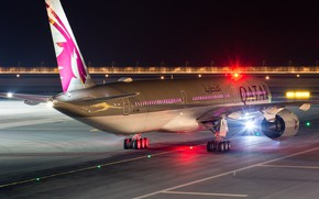 Picture The plane, Liner, Airbus, WFP, Qatar Airways, Chassis, A passenger plane, Airbus A350 XWB, Winglet, …