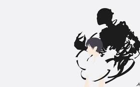 Picture minimalism, Ghost, guy, Adzhin-man, Ajin: Demi-Human, Adzhin, Nagai Kei