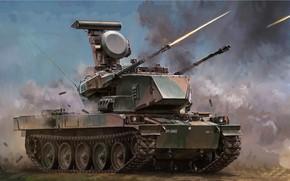 Picture art, shooting, Defense, JGSDF, SPAAG, TYPE 87