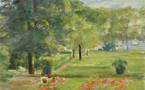 Picture landscape, picture, 1923, Max Liebermann, Max Liebermann, Floral Terrace. The Eastern part of the Garden …