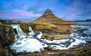 Picture mountain, Iceland, Iceland, Kirkjufell, Snæfellsnes Peninsula
