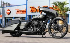Picture Harley-Davidson, Touring, Motorcycle, Thunderbike, Bagger, Custom bike