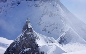 Picture snow, mountains, Switzerland, Sphinx, Observatory, Sphinx Observatory