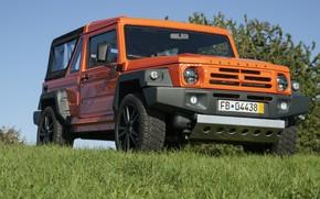 Picture grass, orange, SUV, 2011, 4x4, shrub, Travec, Tecdrah Integrale 1.5 TTi, Renault/Dacia Duster, frame
