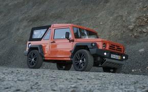 Picture orange, stones, SUV, 2011, 4x4, breed, Travec, Tecdrah Integrale 1.5 TTi, Renault/Dacia Duster, frame
