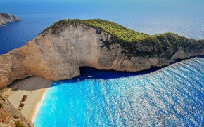 Picture sea, beach, Greece, Greece, Закинтос, Navagio Beach at Zakynthos