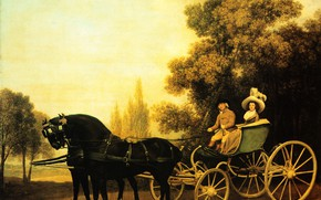Picture picture, George Stubbs, George Stubbs, Lady and gentleman in a Phaeton