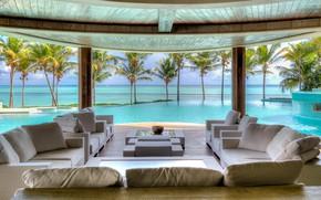 Picture furniture, interior, pool, resort, Bungalow