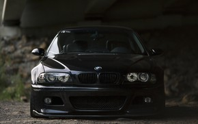 Picture BMW, Bridge, Black, Shadow, E46